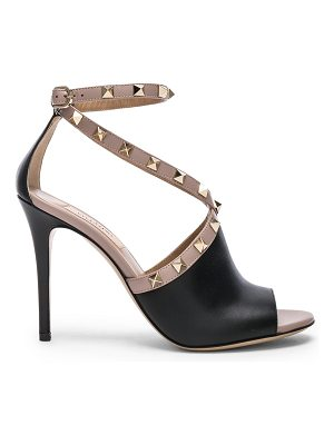 Valentino Leather Rockstud Open Toe Heels