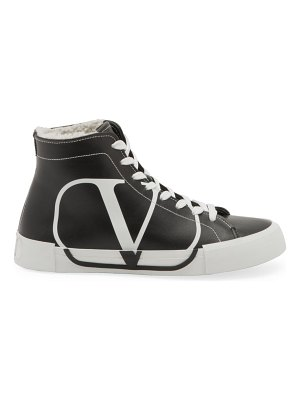 Valentino leather shearling high-top sneakers