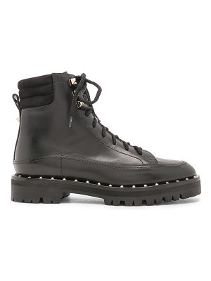 Valentino Leather Soul Rockstud Hiking Boots
