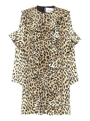 Valentino Leopard-print silk dress