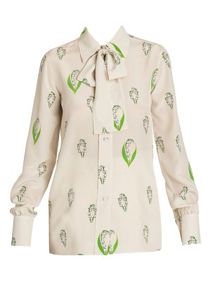 Valentino lily of the valley button front blouse