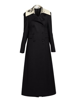 Valentino long double-breasted wool coat
