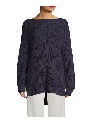 Valentino Long-Sleeve Cotton Sweater