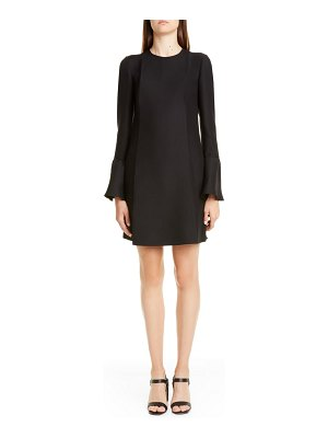 Valentino long sleeve crepe couture minidress