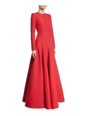 Valentino Long-Sleeve Evening Gown