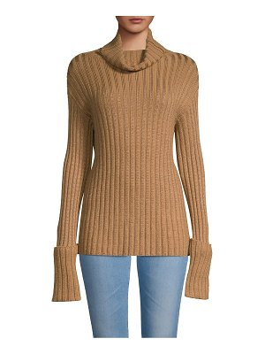 Valentino Long-Sleeve Ribbed Sweater