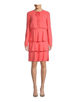 Valentino Long-Sleeve Tiered Dress