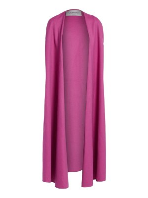 Valentino long wool & cashmere cape