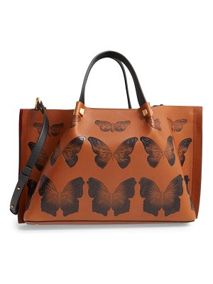 Valentino medium go logo escape butterfly leather tote