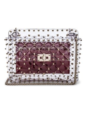 Valentino Medium Rockstud Spike PVC Shoulder Bag