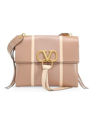 Valentino medium vring stripe leather shoulder bag