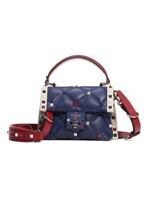Valentino mini candystud top handle leather satchel