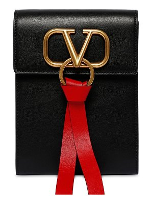 Valentino Mini vring ribbon leather backpack