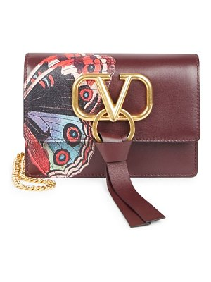 Valentino mini vring undercover butterfly leather clutch