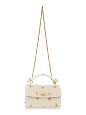 Valentino off-white  large roman stud chain bag