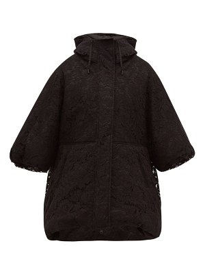 Valentino oversized balloon sleeve lace puffer jacket