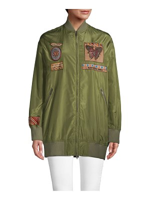 Valentino Oversized Patch Bomber Jacket