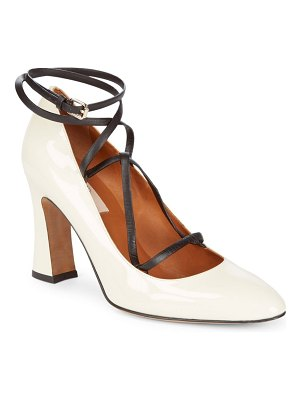 Valentino Pantent Leather Ankle Strap Pump