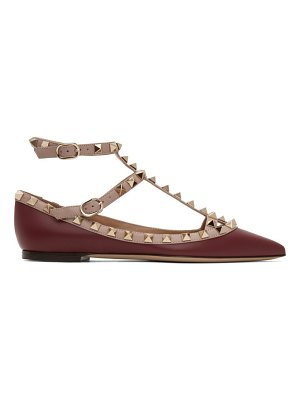 Valentino pink and red  rockstud cage ballerina flats