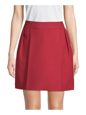 Valentino Pleated A-Line Skirt