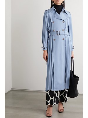 Valentino pleated silk-crepe trench coat