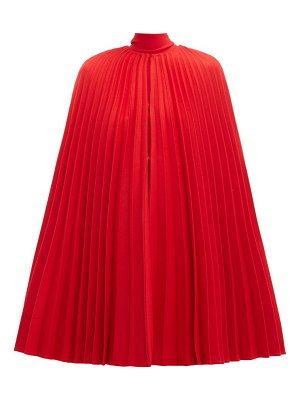 Valentino pleated virgin-wool cape