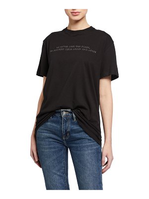 Valentino Poem Embroidered Short-Sleeve Jersey T-Shirt