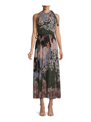 Valentino Printed Silk Halter Dress
