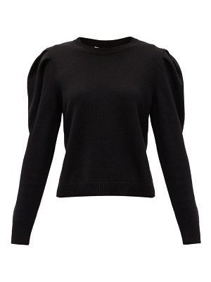 Valentino puff-sleeve cashmere sweater