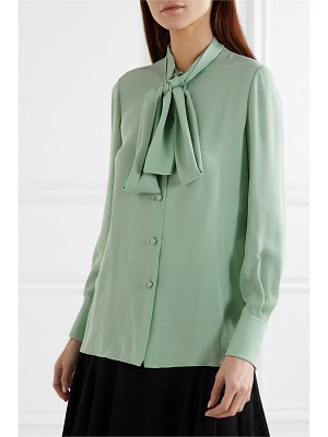 Valentino pussy-bow silk blouse