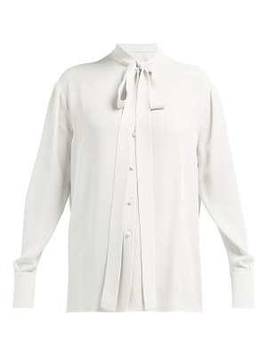 Valentino pussy bow silk georgette blouse