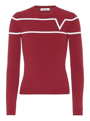 Valentino ribbed-knit sweater
