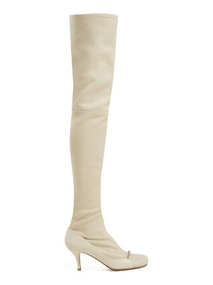 Valentino Ring Toes Over The Knee Leather Boots