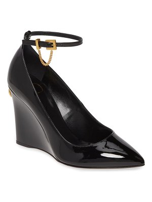 Valentino ringstud wedge ankle strap pump