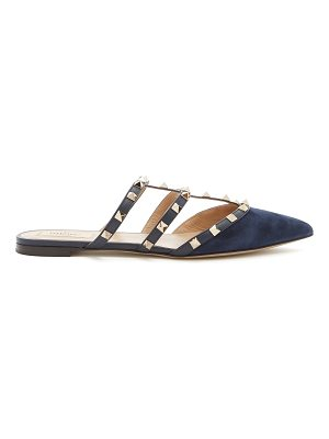 Valentino Rockstud backless suede flats