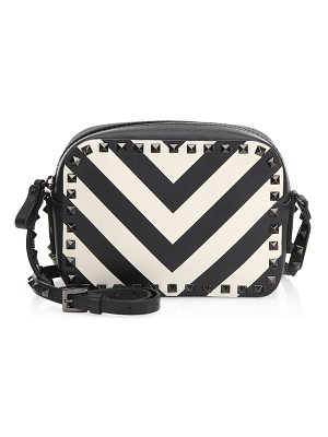 Valentino rockstud chevron leather crossbody bag