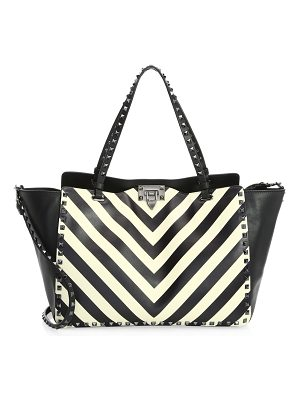 Valentino rockstud chevron medium tote