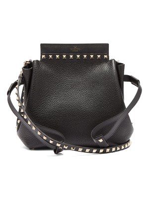 Valentino rockstud drawstring leather cross body bag