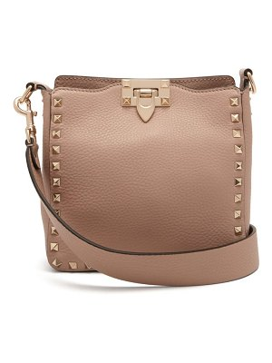 Valentino rockstud grained leather cross body bag