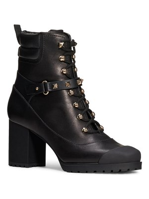 Valentino rockstud lace-up boot