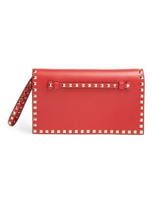 Valentino rockstud leather flap clutch