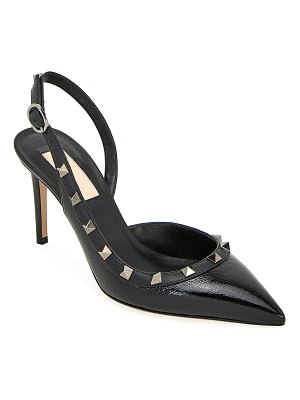Valentino Rockstud Leather Slingback Pumps