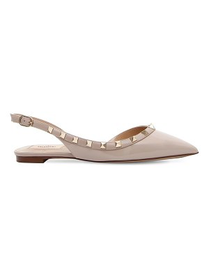 Valentino Rockstud embellished patent leather flat