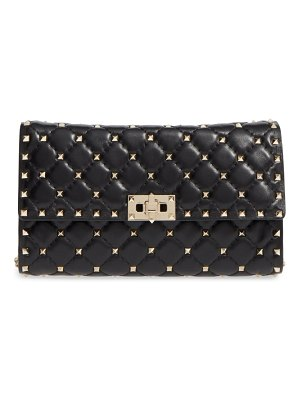 Valentino rockstud quilted lambskin leather clutch