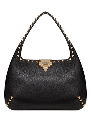 Valentino Rockstud Small Leather Hobo Bag