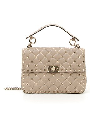 Valentino Rockstud Spike Medium Quilted Top-Handle Bag