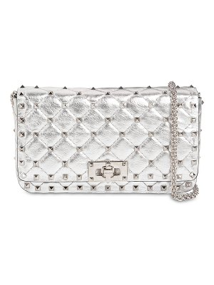 Valentino Rockstud spike metal leather clutch
