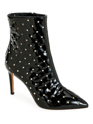 Valentino Rockstud Spike Quilted Patent Booties