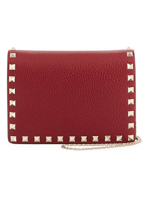 Valentino Rockstud Vitello Chain Clutch Bag