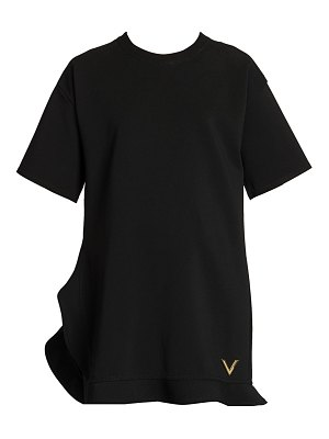 Valentino ruffle-trimmed jersey t-shirt